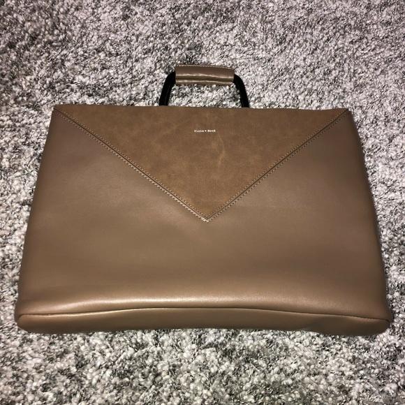 Pixie Mood Handbags - Pixie Mood Women's Geneva Work Tote Brown Vegan Le